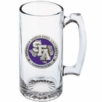 Stephen F Austin Lumberjacks Purple Pewter Glass Super Beer Mug