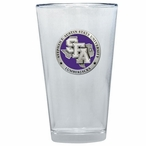 Stephen F Austin Lumberjacks Purple Pewter Pint Beer Glasses, Set of 2