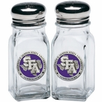 Stephen F Austin Lumberjacks Purple Pewter Salt & Pepper Shakers