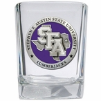 Stephen F Austin Lumberjacks Purple Pewter Shot Glasses, Set of 4