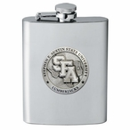 Stephen F Austin Lumberjacks Stainless Steel Flask with Pewter Accent