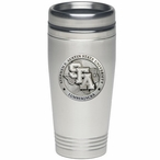 Stephen F Austin Lumberjacks Stainless Steel Travel Mug with Pewter