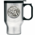 Stephen F Austin Lumberjacks Travel Mug with Handle & Pewter Accent
