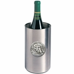 Stephen F Austin Pewter Accent Stainless Steel Wine Bottle Chiller
