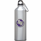 Stephen F Austin Purple Pewter Accent Stainless Steel Water Bottle