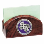 Stephen F Austin Purple Wood Business Card Holder with Pewter Accent