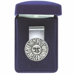 Sunface Steel Money Clip with Pewter Accent
