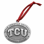 Texas Christian Horned Frogs Pewter Accent Ornaments, Set of 2