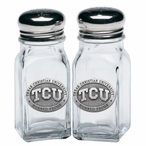 Texas Christian Horned Frogs Pewter Accent Salt & Pepper Shakers
