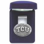 Texas Christian Horned Frogs Pewter Accent Steel Money Clip