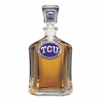Texas Christian Horned Frogs Purple Capitol Glass Decanter with Pewter