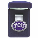 Texas Christian Horned Frogs Purple Pewter Accent Steel Money Clip