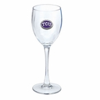 Texas Christian Horned Frogs Purple Pewter Accent Wine Glass, Set of 2