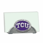 Texas Christian Purple Metal Business Card Holder with Pewter Accent