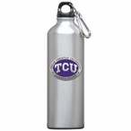 Texas Christian Purple Pewter Accent Stainless Steel Water Bottle
