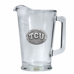 Texas Christian University Horned Frogs Glass Pitcher w/ Pewter Accent