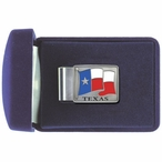 Texas Flag Steel Money Clip with Pewter Accent