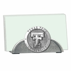 Texas Tech Red Raiders Metal Business Card Holder with Pewter Accent