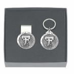 Texas Tech Red Raiders Pewter Accent Money Clip & Key Chain Gift Set