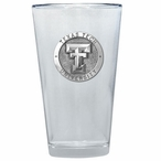 Texas Tech Red Raiders Pewter Accent Pint Beer Glasses, Set of 2