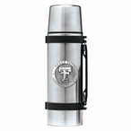 Texas Tech Red Raiders Pewter Accent Stainless Steel Thermos