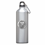 Texas Tech Red Raiders Pewter Accent Stainless Steel Water Bottle