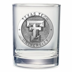 Texas Tech Red Raiders Pewter Double Old Fashion Glasses, Set of 2