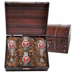 Texas Tech Red Raiders Red Pewter Accent Beer Chest Box Set