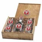 Texas Tech Red Raiders Red Pewter Accent Capitol Decanter Box Set