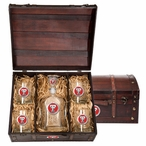 Texas Tech Red Raiders Red Pewter Accent Capitol Decanter Chest Set