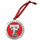 Texas Tech Red Raiders Red Pewter Accent Ornaments, Set of 2
