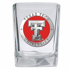 Texas Tech Red Raiders Red Pewter Accent Shot Glasses, Set of 4