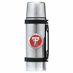 Texas Tech Red Raiders Red Pewter Accent Stainless Steel Thermos