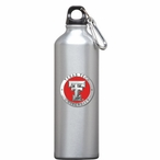 Texas Tech Red Raiders Red Pewter Accent Stainless Steel Water Bottle