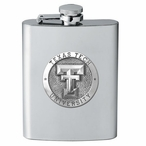 Texas Tech Red Raiders Stainless Steel Flask with Pewter Accent