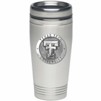 Texas Tech Red Raiders Stainless Steel Travel Mug with Pewter Accent