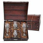 Texas Tech University Red Raiders Pewter Accent Beer Chest Box Set