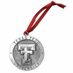 Texas Tech University Red Raiders Pewter Accent Ornaments, Set of 2