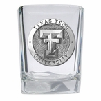 Texas Tech University Red Raiders Pewter Accent Shot Glasses, Set of 4