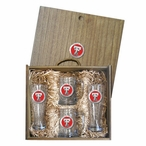 Texas Tech University Red Raiders Red Pewter Accent Beer Box Set