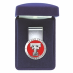 Texas Tech University Red Raiders Red Pewter Accent Steel Money Clip