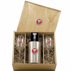 Texas Tech University Red Raiders Red Pewter Accent Wine Box Set
