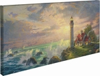 The Guiding Light Lighthouse Wrapped Canvas Giclee Art Print Wall Art