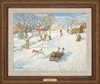 The New Sled Limited Edition Framed Canvas Giclee Art Print Wall Art