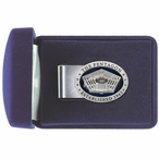 The Pentagon Blue Steel Money Clip with Pewter Accent