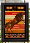 The Rank One Stallion Horse Stained Glass Wall Art