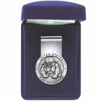 U.S. Marine Corps Bulldog Steel Money Clip with Pewter Accent