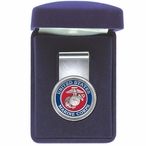 U.S. Marine Corps Red Steel Money Clip with Pewter Accent