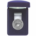 U.S. Marine Corps Steel Money Clip with Pewter Accent