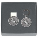 Unicorn Money Clip & Key Chain Gift Set with Pewter Accents